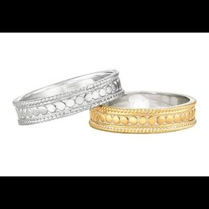 Anna Beck Stackable Gold Band, comes with AB pouch